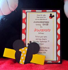 Mickey Mouse Invitations Childrens Birthday by TooCuteInvites