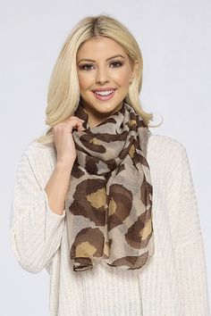 Sophie Leopard Scarf by Accent Accessories Leopard Scarf, Great Gifts For Mom, Scarves, Accessories, Scarfs, Cheetah Scarf, Jewelry Accessories