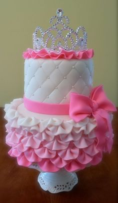 Pink Princess Cake - This cake was for a little girl with a princess themed birthday. Description from pinterest.com. I searched for this on bing.com/images
