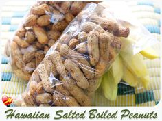 Boiled peanuts with Hawaiian salt and star anise. Simply delicious. Get more island style recipes here.