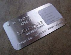 100 really creative business cards - Metal Business Cards