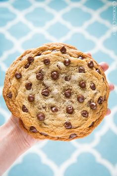 Super fast and easy recipe for one gigantic and delicious chocolate chip cookie from Cooking Classy