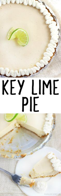 KEY LIME PIE - only four ingredients! this was so easy and everyone loved it! KEY LIME PIE - only four ingredients! this was so easy and everyone loved it! Summer Dessert Recipes, Easy Desserts, Delicious Desserts, Yummy Food, Tart Recipes, Sweet Recipes, Bread Recipes, Brownies, Keylime Pie Recipe