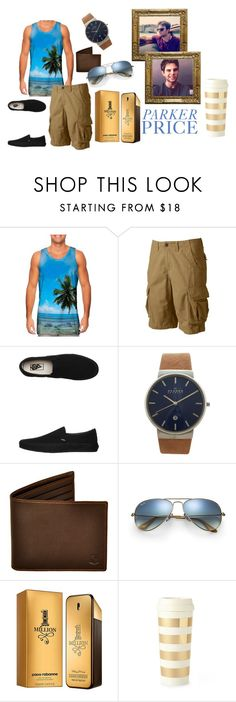 """Livin' La Vida Mocha"" by palisade ❤ liked on Polyvore featuring Urban Pipeline, Vans, Skagen, Ray-Ban, Paco Rabanne, Kate Spade and Vow"
