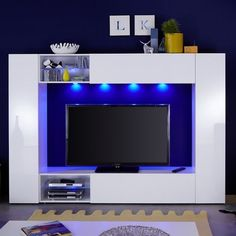 Designs in glass, wood & high gloss with multi led lights! High Gloss Tv Unit, White Tv Unit, Tv Stand Furniture, Lcd Television, Door Gate Design, Cabinets For Sale, Mini Scrapbook Albums, Led, Modern