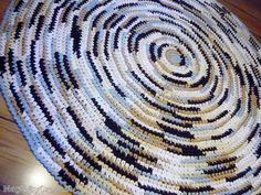 Made-to-order Crochet Rug  60 inches Round  by MagicByCrochet