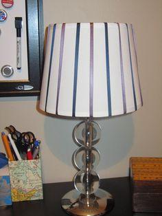 lamp with ribbon shade DIY