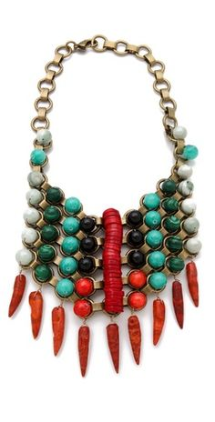 This is a really fun take on a 'bib' necklace by DANNIJO.