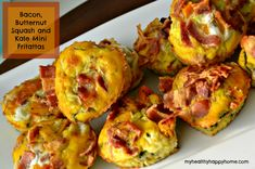 Bacon, Butternut Squash and Kale Mini Fritattas