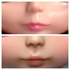 Carving reference Blythe Doll Before&after Doll Makeup, Costume Makeup, Doll Painting, Doll Tutorial, Little Doll, Doll Repaint, Clay Dolls, Fairy Dolls, Custom Dolls