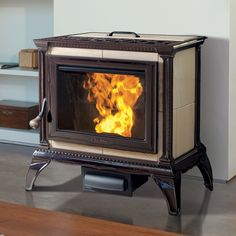 HERITAGE 8091 PELLET Heats up to: 2,000 sq ft Burn Rate Range: 1.8 to 6.0 lbs per hour Size: 15,300 to 51,000 BTUs EPA Rating: 1.3 grams per hour Efficiency: Up to 87% Hopper Capacity: Up to 50 lbs. Brown Enamel