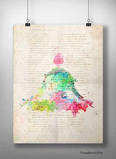 Old Yoga Book. yoga print. yoga decor. wall decor. yoga art. modern painting.  art print, wall decoration, painting, or printed version