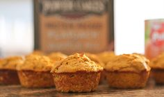 If you like pumpkin, you& love these protein-packed pumpkin muffins! They even pass the kid test, our 3 boys chow them down every time we make them. Pumpkin Protein Muffins, Protein Cake, Protein Foods, Protein Pancakes, High Protein, Pumpkin Pancakes, Healthy Muffins, Kodiak Power Cakes, Kodiak Cakes