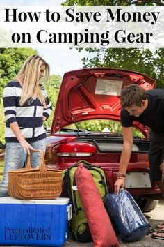 How to Save Money on Camping Gear, including ideas for finding cheap camping gear, when to look for camping gear on sale, and even making your own gear.