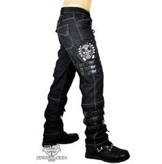 Cryoflesh Rivethead Fallout Gothic Metal Steampunk Hardcore D Ring Pants