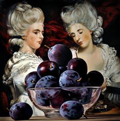 Sherrie Wolf Plums with Ladies 2009 oil on canvas x Food Alphabet, Wall Candy, Wolf Painting, Images And Words, Goddess Of Love, Purple Haze, Art Forms, Food Art, Art Museum