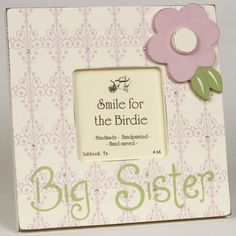 Big Sister Picture Frame