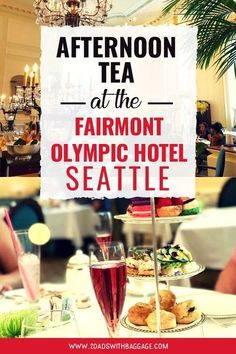 Enjoy an afternoon high tea at the Fairmont Olympic Hotel Seattle - travel tips, travel ideas, travel destinations, luxury lifestyle inspiration, luxury living, pretty places to visit, amazing places to visit, amazing places to travel #travelling #travelg Us Travel Destinations, Family Vacation Destinations, Vacation Trips, Vacation Ideas, Seattle Hotels, Seattle Travel, Seattle Vacation, Olympic Hotel, Quick Weekend Getaways