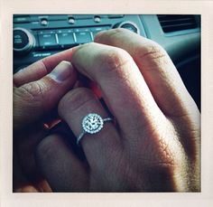 Perfect ring - Looks like James Allen's Pave Set Diamond Halo engagement ring - repinned by bridesandrings.com