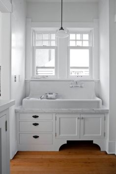 Not thrilled about the marble, but LOVE the farm house sink <3