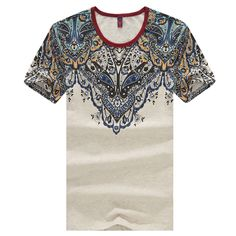 c69c63d42 2016 summer new men's cotton T-shirt printing Slim Chinese style  short-sleeved T shirt men casual big yards