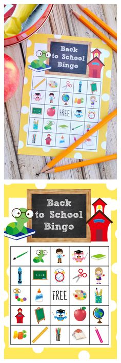 Free Printable Back to School Bingo Game