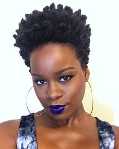 Bantu Knot Out on Tapered TWA Tutorial