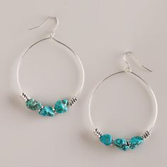 One of my favorite discoveries at WorldMarket.com: Silver and Turquoise Bottom Teardrop Earrings