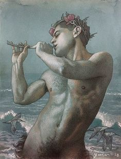 49 Furry Haunched Fauns and Wild Boys From Todd Yeager Lesbian Art, Gay Art, Mural Painting, Figure Painting, Paintings, Masculine Art, Male Figure Drawing, Art Of Man, Creatures Of The Night