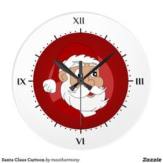 Santa Claus Cartoon Wall Clock