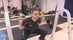 Squatting is another core lift that helps build Muscular Strength.- Pinned by Olivia.