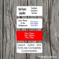 Matching Wedding Return Address Labels, Stickers, Custom Sticker, Personalized Label, Sports Theme, Bridal, Holiday, RSVP Envelope, Stamp