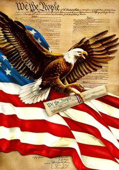 We the people Eagle - Patriotic American Eagle.