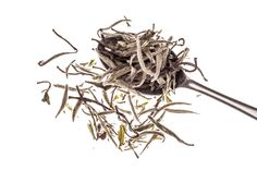 Silver Needle. Made from the most delicate, young buds of a tea bush, plucked before dawn for maximum freshness, this is simply the very best white tea.  Please feel free to reproduce this image but please link back to http://mdteashop.co.uk/collections/teas/products/silver-needle