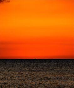 Sky Orange Sunset and Green Flash :)