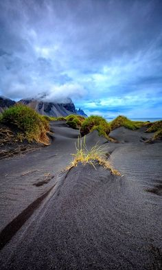 Stokksnes midnight, Iceland, by Markus Jane. All Nature, Amazing Nature, Places Around The World, Around The Worlds, Beautiful World, Beautiful Places, Landscape Photography, Nature Photography, Places To Travel