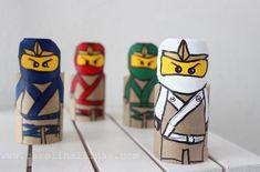 Ninjagos hechos con rollos de cartón | #Artividades