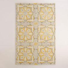 Soleil Tile Tufted Wool Area Rug | World Market