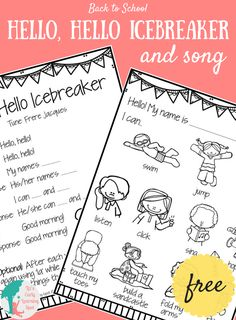 Back to School: Hello, Hello Icebreaker and Song - Liz's Early Learning Spot