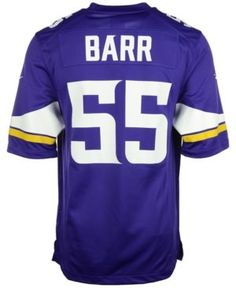 Nike Men's Anthony Barr Minnesota Vikings Game Jersey - Purple XXL