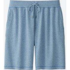 UNIQLO Men's Easy Shorts ($15) ❤ liked on Polyvore featuring men's fashion, men's clothing, men's activewear, men's activewear shorts, blue and mens activewear shorts