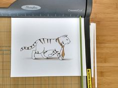 For the cat lover! Cute striped tabby cat with a necktie print.