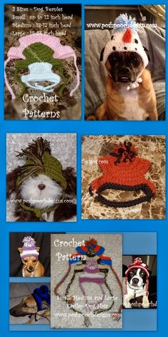 I am getting lots of questions and   requests for crochet patterns   for medium and large Dogs.       I have put together a   collage to...