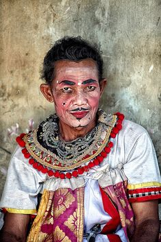 Ubud / Bali / Indonesia Barong dancer at backstage getting ready for the show.  #world #cultures