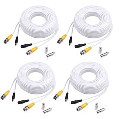 10 x 150ft BNC Video All-in-one Power Cable CCTV DVR Surveillance Wire Cord CLB