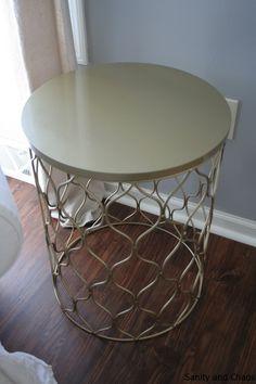DIY gold side table