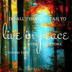 Peace is possible, depending on you and on others. (Live Abundantly) Praise God that we serve the Prince of Peace! . .