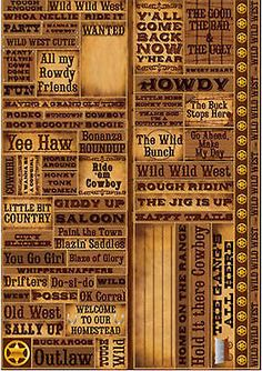 Reminisce WESTERN QUOTES BIG Cardstock Sticker Sheet COWBOY RANCH