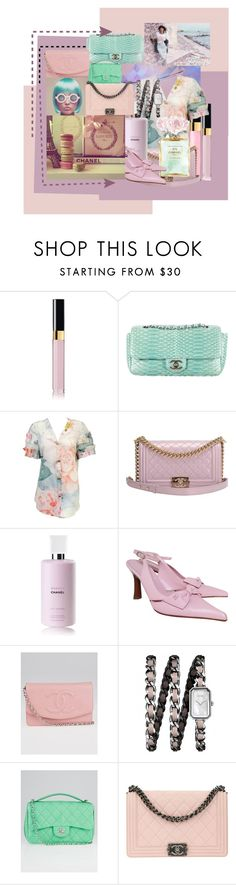"""""""CHANEL  au pastel"""" by sugarcubed3 ❤ liked on Polyvore featuring Chanel"""