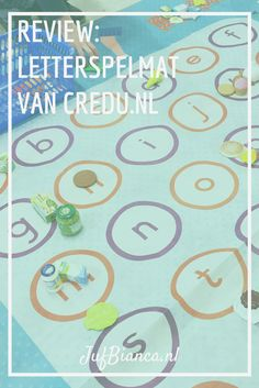 review - letterspelmat van credu - Leuk om letters en klanken mee te oefenen! >> JufBianca